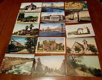 Lot 100 vintage California Postcard Undivided-Linen Cancel 1905+ DPO Postmark
