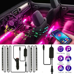Car Interior Footwell Strip Lights 48 LED RGB Multicolour Atmosphere Lamp Remote