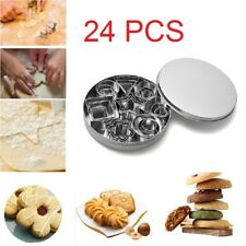 24X Baking Christmas Cookie Cutters Biscuit Heart Cake Star Mould Decorating Set