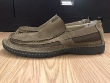 Clarks Men's Lambeth Shoes Size 10 M Brown Leather Moc Slip On Loafers 70946