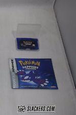 Pokemon SAPPHIRE Version (Game Boy Advance) Rare CART in CASE + MANUAL Authentic