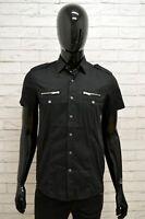 Camicia Uomo ANTONY MORATO Taglia Size S Maglia Shirt Man Manica Corta Nero