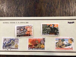 Stamps Russia 🇷🇺 CCCP 1963 SC# 2514B, C, D, 2757-8