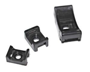 Cable Tie Cradles Black 5mm 9mm 13mm Screw Wiring Mount Base Cradle
