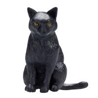 .Mojo BLACK CAT SITTING cute pets farm models toys plastic figures animals