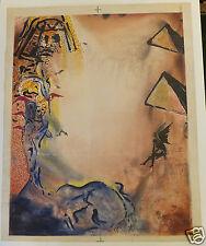 """Dali lithographie sur peau """"Rêve de Moïse"""" 1974"""
