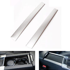 Steel Console Water Cup Holder Panel Decal Cover Trim For Volvo XC60 V60 S60 S60