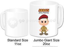 Personalised Army Soldier Camouflage Cadet Coffee Jumbo Gift Mug 20oz (Design 1)