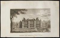 1829 - Grabado Castillo de Madrid En Madera Boulogne