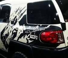 Mud splash immitation TRD Racing side vinyl decal sticker fits to fj cruiser