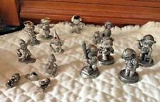 Odd Lot Of 15  Minature Avon Pewter Figurines