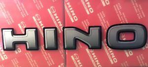 NEW Genuine Hino Decal Emblem Ornament Grey
