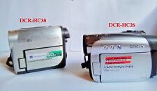 Sony Handycam DCR-HC26 and DCR-HC38 Mini DV Camcorders 2 camera lot!