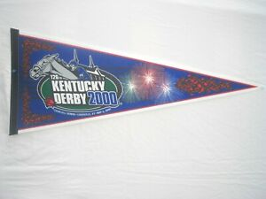 "2000 - 126th Official Kentucky Derby 30"" Pennant - MINT"