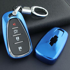 Smart Key Case Fob Cover Chain For Chevy Malibu Cruze Bolt Trax Camaro Equinox