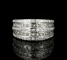 White Gold Wide Anniversary Band Ring Simon G Signed Natural 1.50ctw Diamond 18K