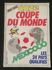 REVISTA ONZE FUTBOL ESPECIAL MUNDIAL MEXICO 86 COUPE DU MONDE 1986