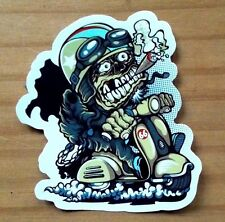 Sticker Crazy Biker Aufkleber Glanz-Optik -  Stickerbomb Laptop Skateboard