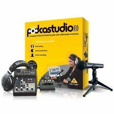 At Home Podcast Recording Studio Complete Radio Sound Show Equipment Instrument