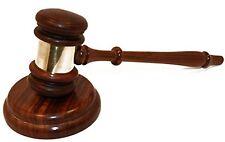 NEW Judge's Gavel with Striking Block FREE SHIPPING