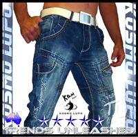 New SIZE 29 30 31 32 33 34 35 36 37 38 39 Men's Kosmo Lupo Jeans Man's K & M k&m