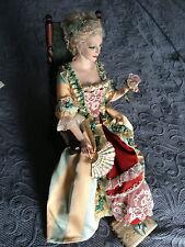 Swedish Artist Marie Ahren Lady & Rose Porcelain Artist Figure One of A Kind