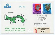 1980 SVIZZERA KLM VOLO ZURICH-PANAMA C/1574