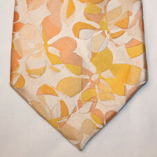 NEW Alfani Silk Neck Tie Light Yellow with Yellow and Light Orange Florals 1307
