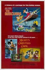 RESCUERS / MICKEY'S XMAS CAROL-orig 27x41 movie poster