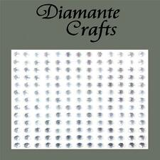169 x 4mm Clear Diamante Self Adhesive Rhinestone Craft Embellishment Gems