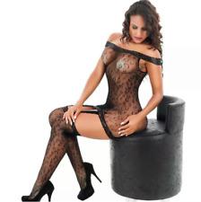 Sexy temptation circles lingerie suspenders bodystocking bodysuit nightwear