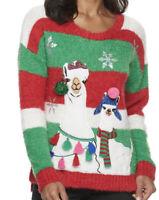 United States Sweaters Ugly Christmas Sweater Women's Llama Sz Medium NWT $50