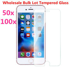 100x Wholesale Bulk Lot Tempered Glass Screen Protector For iPhone 12 XR 11 8 SE