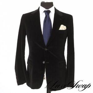 #1 MENSWEAR LNWOT Prada Milano Made in Italy Midnight Velvet Corduroy Jacket 48