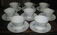 Royal Doulton Millefleur 8 cups and saucers blue H 4953
