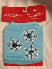 Dog cat 2 Legs Puppy Sweatshirt pet clothes winter Holiday Outfit Xs - Blue