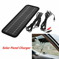 Portable 12V to 5V Car Solar Panel Battery Maintainer Charger For Vehicle Boats&