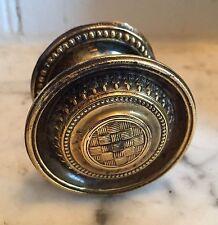 Antique 19th c. Brass Furniture Knob Drawer Pull Handle Federal Regency 1810 20