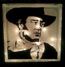 Customized John Wayne Glass Block Light~ Home Decor~Gift~Lamp