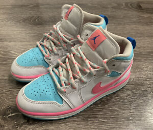 Jordan 1 mid (PS) white/Digital Pink Size 1.5 Y 640737-102