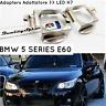 Coppia ADATTATORI LAMPADE KIT LED H7 BMW SERIE 5 E60 E61 Portalampada FARI