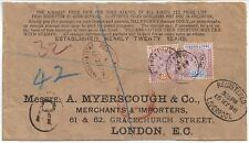 Sierra Leone 1897 2d, 2.1/2d Victoria sg 44 ,5 cover 27 AP 98 to London 15 MY 98