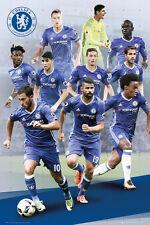 CHELSEA - 2017 PLAYERS POSTER - 24x36 FOOTBALL SOCCER FC HAZARD WILLIAN 34156