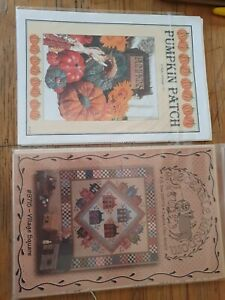 Country Quilt Pattern And Pumpkin Pattern