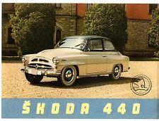 Skoda 440 Export Saloon 1955-56 French Market Foldout Sales Brochure