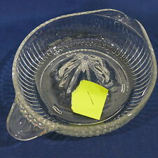 "Vintage Clear Depression Glass Juicer Reamer ~ 6"" Diameter Tab Handle"
