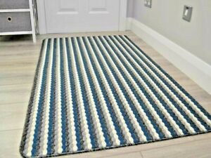 Small Large Modern Navy Blue Washable Non-Slip Long Hall Kitchen Heavy Duty Rugs