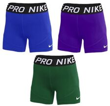 """Nike Women's Pro 5 Running Volleyball Spandex Tight Shorts 5"""" inseam Multi Color"""