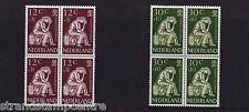 Netherlands - 1960 World Refugee Year - U/M - SG 891-2 BLOCKS of FOUR