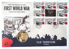First Day Coin Cover WW1 Coin & Stamps Collection World War One – The Trenches